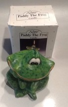 New In Box scott's collectible wax candle toad Paddy The Frog - $222.75