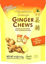 Prince of Peace Natural Ginger Chews Candy with Mandarin Orange 4 oz ( P... - $13.12