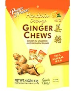Prince of Peace Natural Ginger Chews Candy with Mandarin Orange 4 oz ( Pack of 3 - $14.01