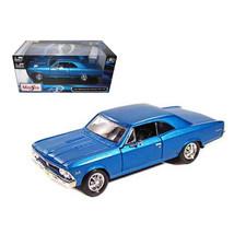 1966 Chevrolet Chevelle SS 396 Blue 1/24 Diecast Model Car by Maisto 319... - $26.34
