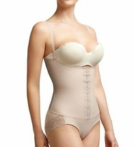 Squeem BEIGE Perfectly Curvy Open Bust Shaping Bodysuit, US Size 4 - $44.06
