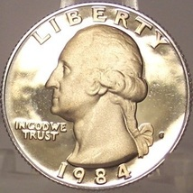 1984-S DCAM Proof Washington Quarter PF65 #872 - $3.19