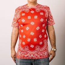 Men's Bleu Evolution Sublimation All Over Print S/S T Shirt Bandana Prin... - $19.99