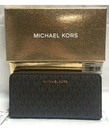 Michael Kors Giftables Large Zip Around Continental Wallet with Gift Box... - $91.92