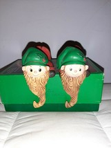 1979 Lot of 2 HALLMARK Vintage ELF with Long Beard Stocking Hangers Holders - $18.70