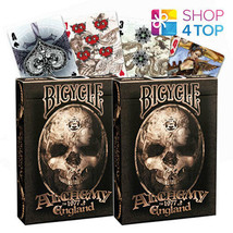 2 DECKS OF BICYCLE ALCHEMY ENGLAND 1977 PLAYING CARDS TRICKS GOTHIC FANT... - $14.87