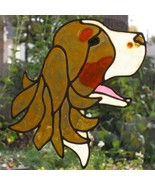 Dog head English Springer Spaniel reusable sun catcher, large decal tri ... - $11.00
