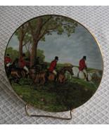 RARE VINTAGE Royal Grafton HERRING Hunting Scenes Plate No. 2 Fine Bone ... - $35.97
