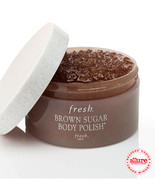 New! FRESH Brown Sugar Body Polish 7oz + 3.4 oz Body cream Set for Glowi... - $49.00
