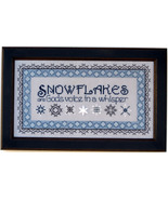 Snowflakes In Blue cross stitch chart Annalee Waite Designs - $10.80