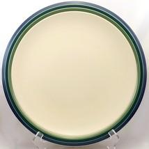 """Pfaltzgraff Ocean Breeze Chop Plate Round Platter Blue Teal Green Bands 13"""" - $24.75"""