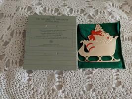 Avon 1991 Sleigh Ride Silverplate Ornament  - $5.81