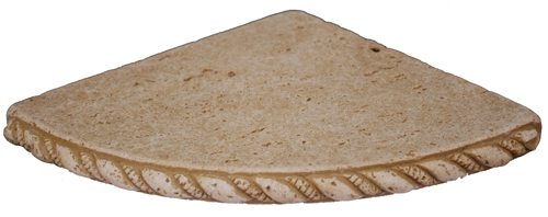 Cast Stone Round Corner Shelf - Mocha
