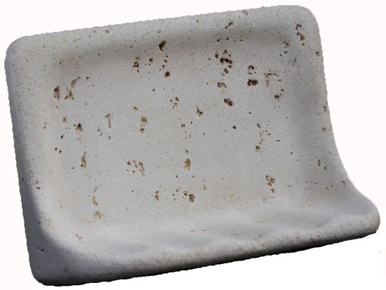 Cast Stone Soap Dish - Ivory Bonanza