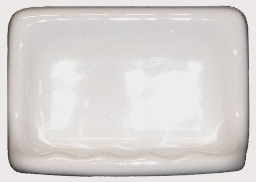 Ceramic Glaze Soap Dish - Cream