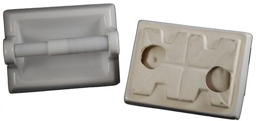 Ceramic Toilet Paper Holder - White