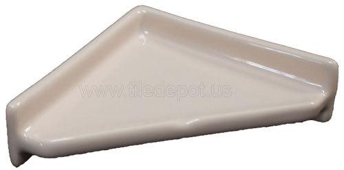 Porcelain Corner Shelf - Triangle Parchment Glossy