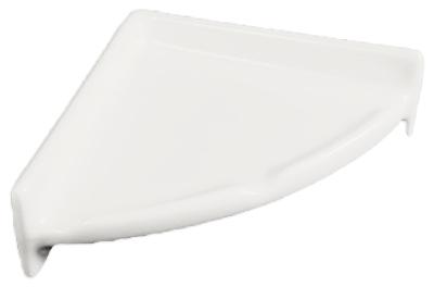 Porcelain Corner Shelf Round - Biscuit Glossy