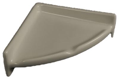 Porcelain Corner Shelf Round - Standard Colors
