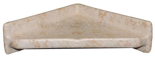Porcelain Corner Shelf Triangle - Stone