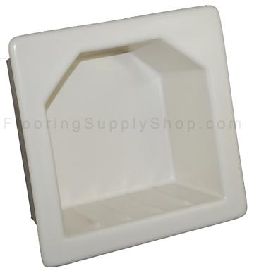 Porcelain Hotel Mini Soap Dish 6x6 Almond Matte