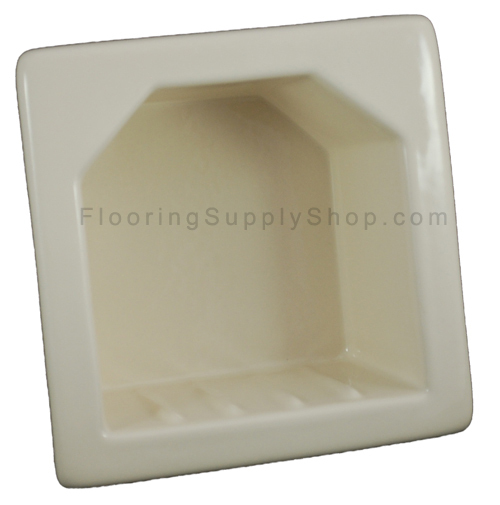 Porcelain Hotel Mini Soap Dish 6x6 Biscuit Glossy
