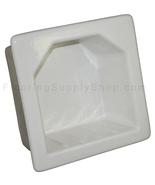 Porcelain Hotel Mini Soap Dish 6x6 White Glossy - $39.95