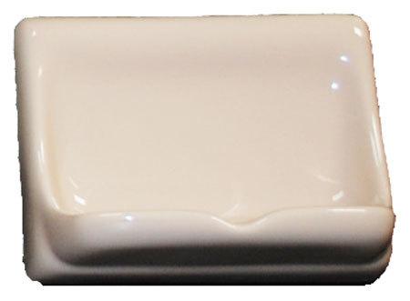 Porcelain Soap Dish - Parchment Glossy Bonanza