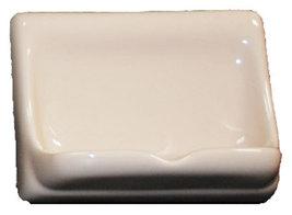 Porcelain Soap Dish - Parchment Glossy image 1
