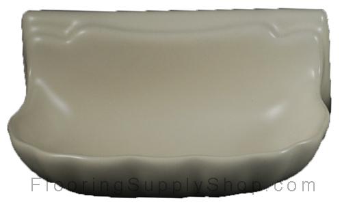 Porcelain Soap Dish  Shell Small - Bone Almond Matte