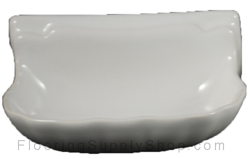 Porcelain Soap Dish  Shell Small - Glossy White