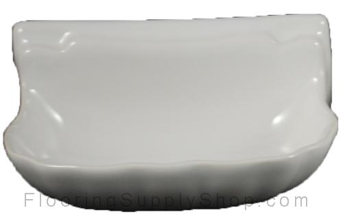 Porcelain Soap Dish  Shell Small - Glossy White Bonanza