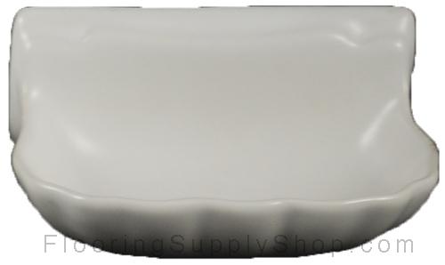 Porcelain Soap Dish  Shell Small - Matte White Bonanza