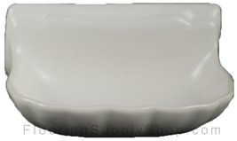 Porcelain Soap Dish  Shell Small - Matte White - $24.95