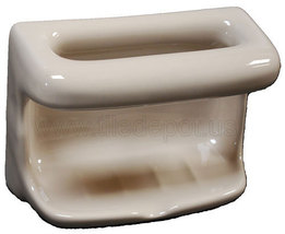 Porcelain Soap Dish with Wash Cloth - Parchment - $39.95