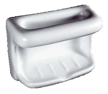 Porcelain Soap Dish with Wash Cloth - Standard Colors