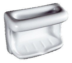 Porcelain Soap Dish with Wash Cloth - Standard Colors - $39.95
