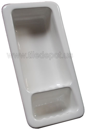 Recessed Shampoo - Soap Porcelain White Glossy Small Bonanza