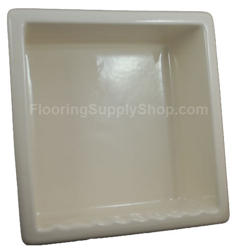 Recessed Shampoo - Square Porcelain Biscuit