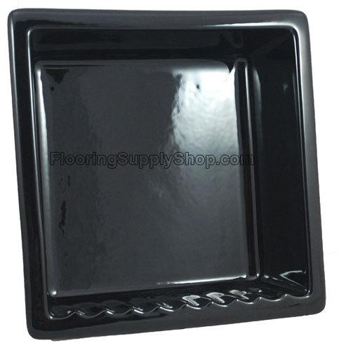 Recessed Shampoo - Square Porcelain Black Glossy