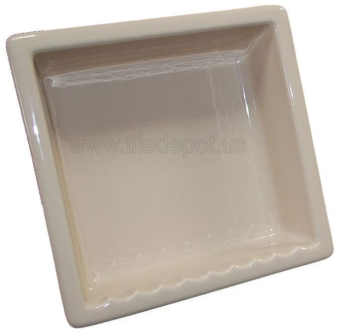 Recessed Shampoo - Square Porcelain Parchment Glossy Bonanza