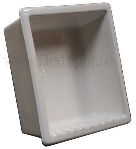 Primary image for Recessed Shampoo - Square Porcelain White Glossy