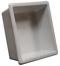 Recessed Shampoo - Square Porcelain White Glossy - $179.00