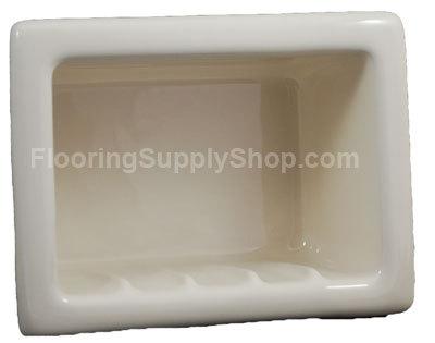 Recessed Soap Dish Porcelain Biscuit