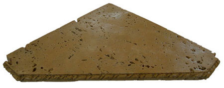 Travertine Shower Shelf Triangle Wet Look Noce