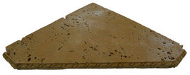 Travertine Shower Shelf Triangle Wet Look Noce - $29.99