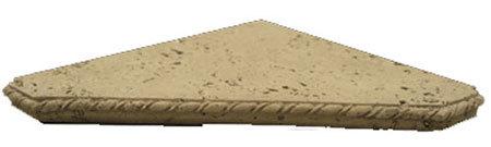 Travertne Shower Shelf Triangle Wet Look Ivory