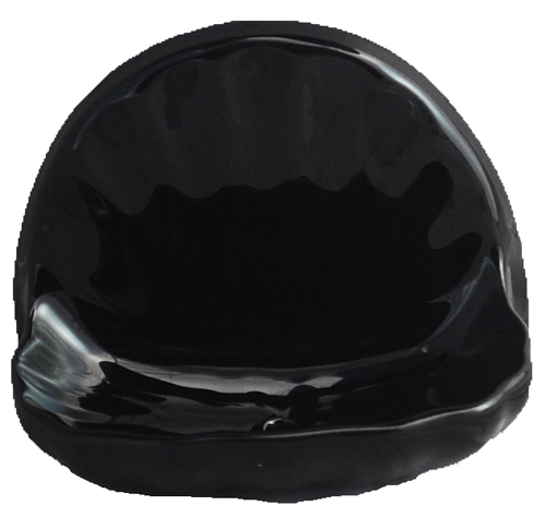 Ceramic Glaze Soap Dish Shell Glossy Black