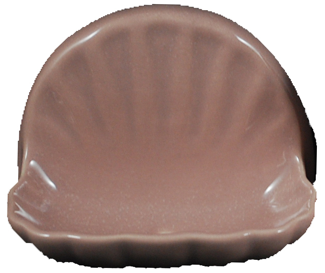 Ceramic Glaze Soap Dish Shell Glossy Red Rose