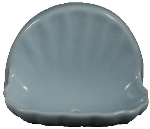 Ceramic Glaze Soap Dish Shell Glossy Sky Blue